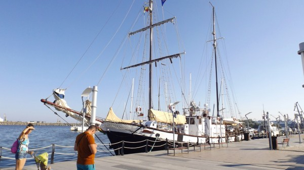 Old ship in the nearby city, Mangalia