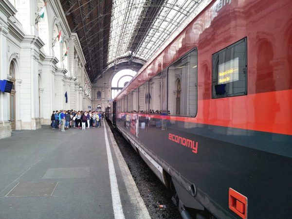 The train that took us from Budapest to Vienna