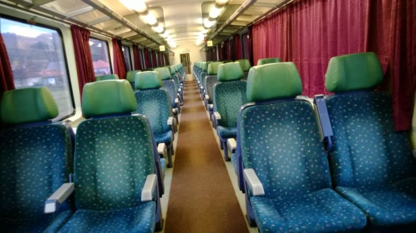 This is how a 2nd class carriage usually looks like