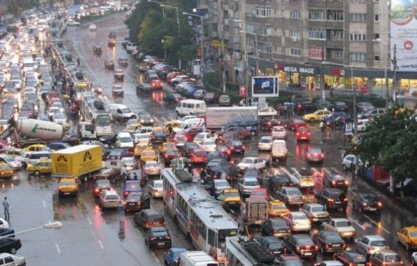 Traffic in Bucharest can sometimes be crazy...