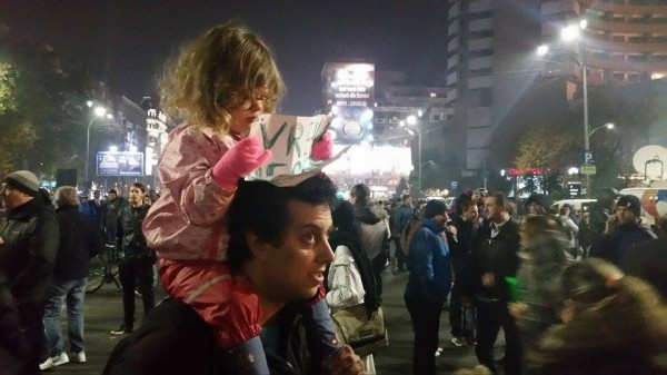 Many parents brought their kids to the protests