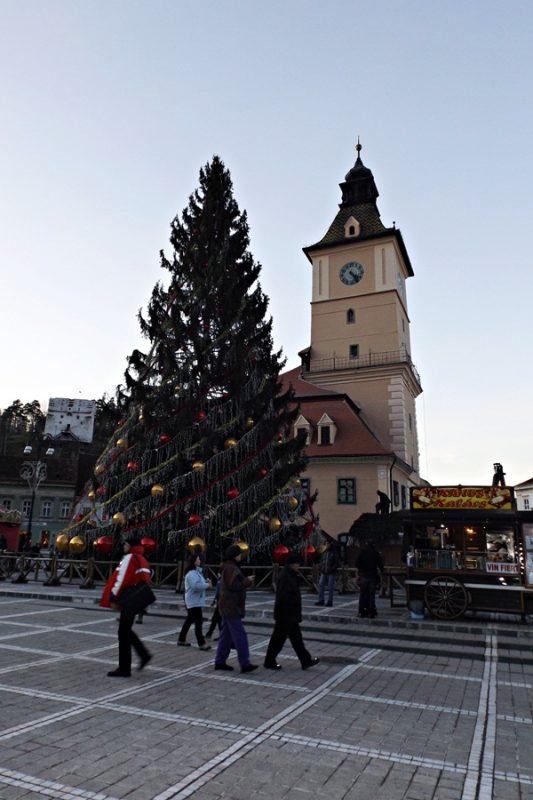 The main square in Brasov, Piata Sfatului