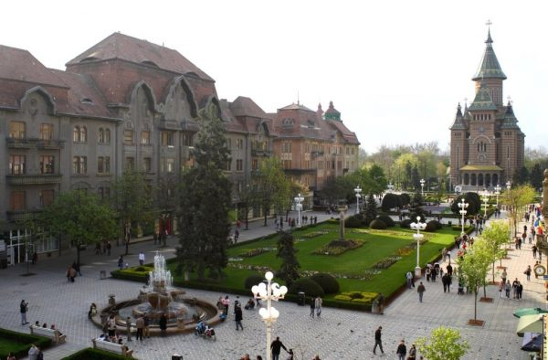 Unirii square, in the heart of the city