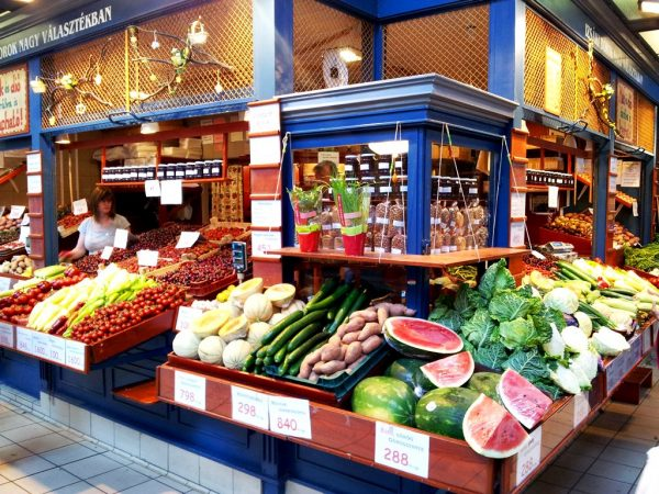 The Central Market in Budapest - tourist-orientated, but still with fair prices and better looking than any peasants market I've seen in Romania