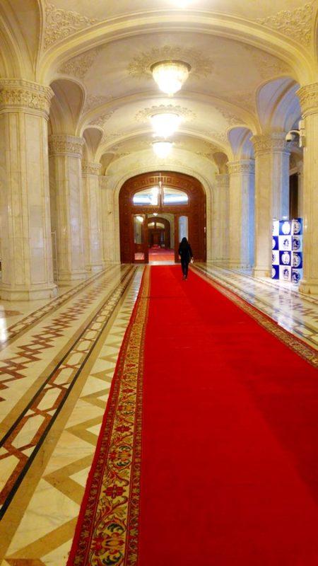 Palace of Parliament hallway
