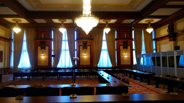 Palace of Parliament meeting room