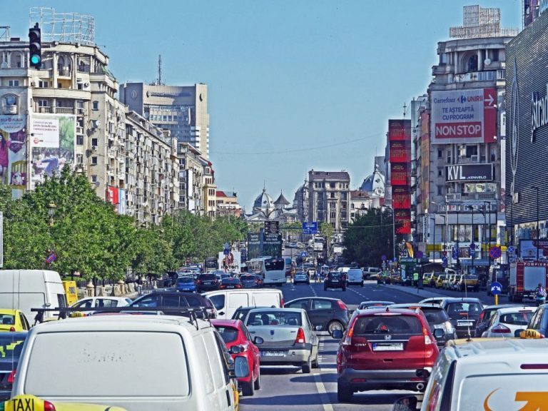 car traffic in romania