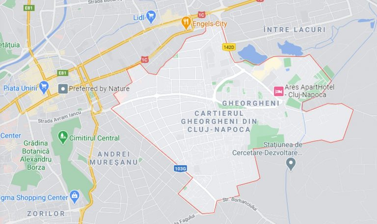 Cheorgheni, Cluj Napoca Map