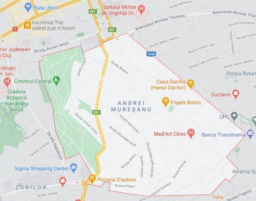 Andrei Muresanu Neighborhood Cluj Napoca Map