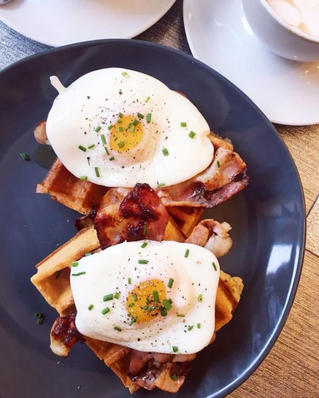 bacon maple syrup eggs