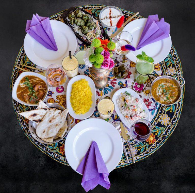 indigo indian platter