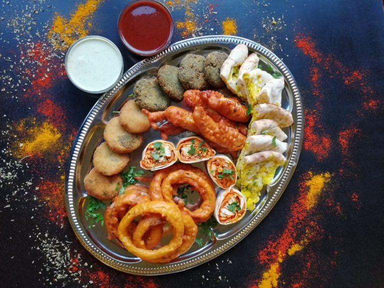 indigo varied platter